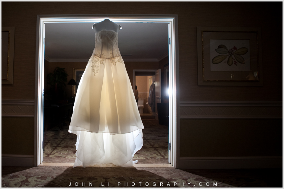 Monica wedding in Fairmont wedding dress