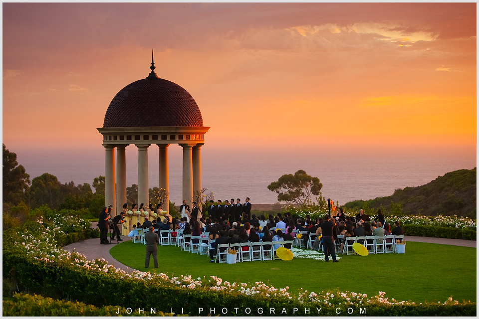 Pelican Hill wedding ceremony locaiotn