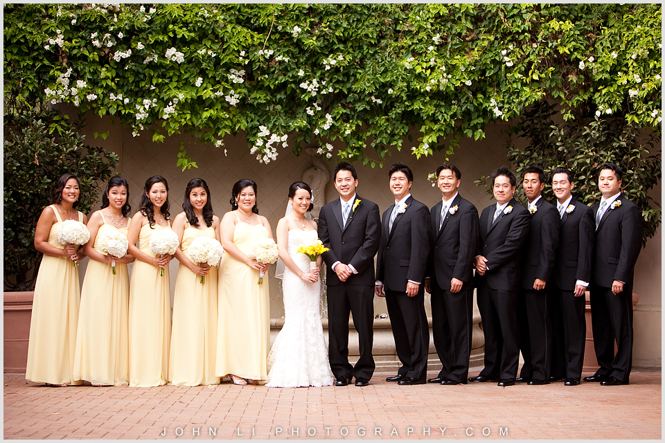 Pelican Hill wedding group photos