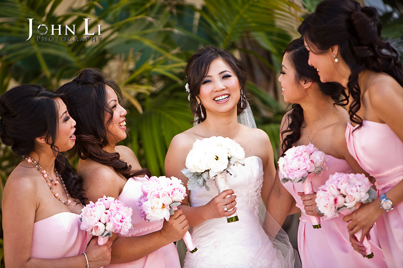 San Gabriel Hilton wedding bridal party