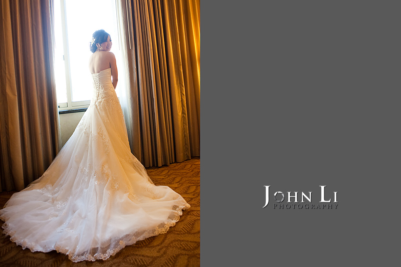 San Gabriel Hilton wedding bride