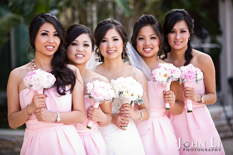 San Gabriel Hilton wedding photo bridal group photo