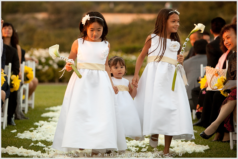 flower girl Pelican Hill wedding
