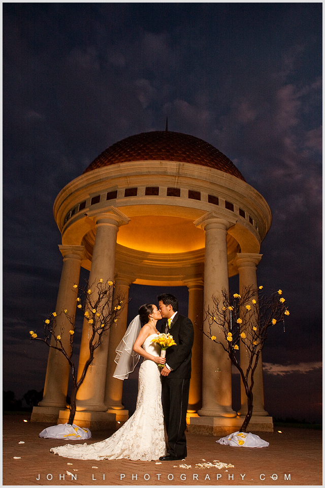 kiss Pelican Hill wedding