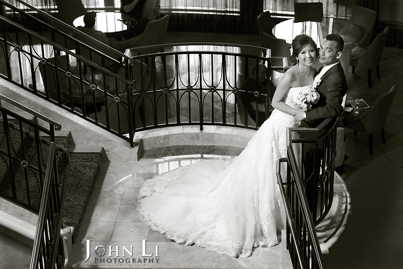wedding photography SanGabriel Hilton Lobby