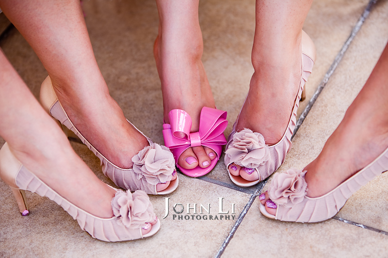 wedding shoes San Gabriel Hilton wedding