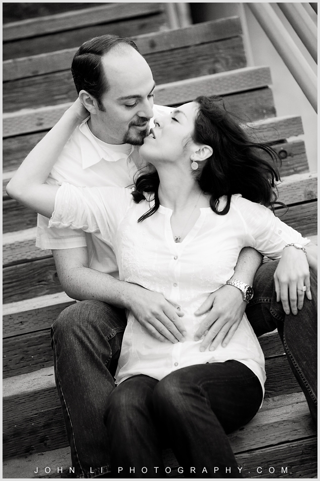 B&W Manhattan Beach Engagement