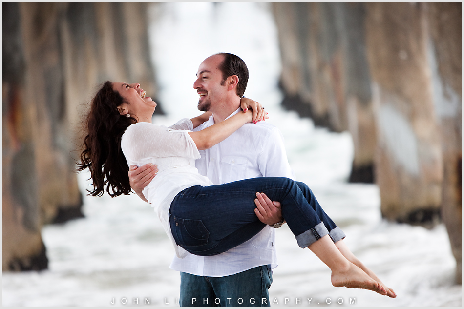 Beach engagement in Manhattan Beach pier