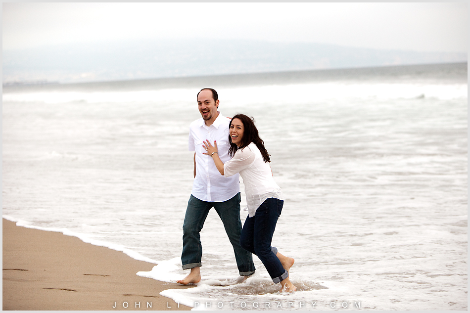 Beach engagement in Manhattan Beach