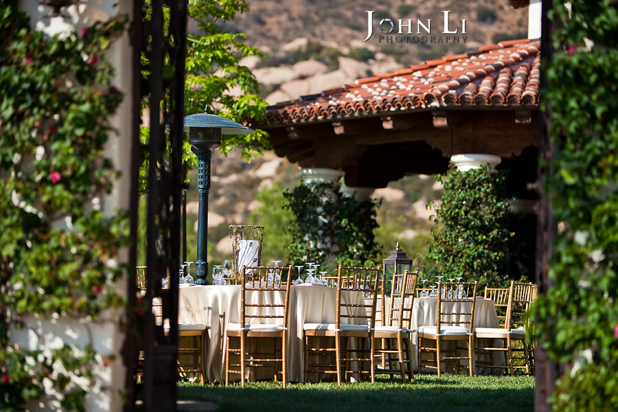 Hummingbird Nest Ranch wedding reception site