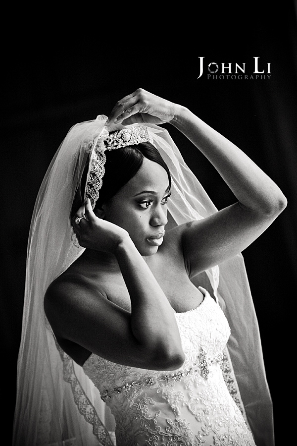 A Bridal Portrait in Los Angeles Park Plaza Hotel