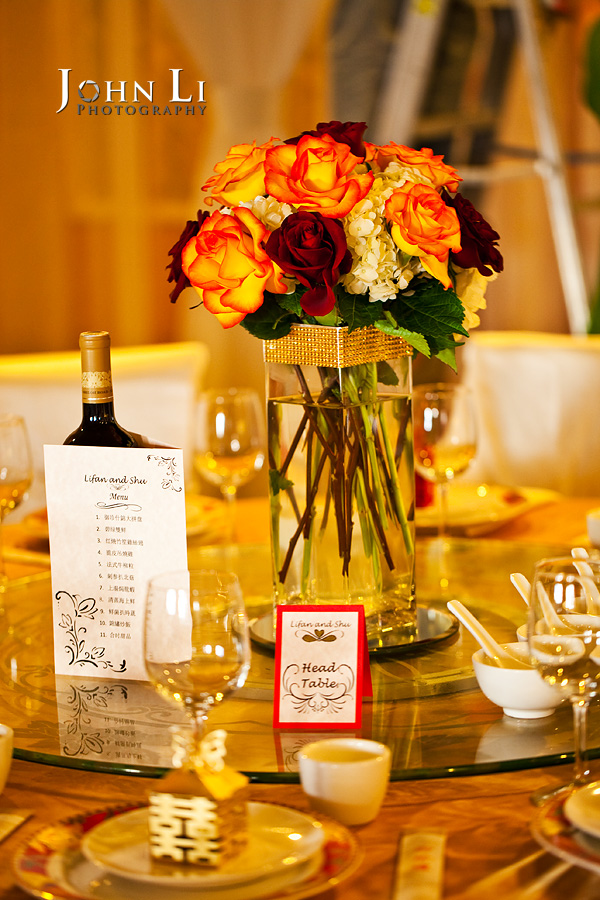 Mission 261 wedding reception photography table setting