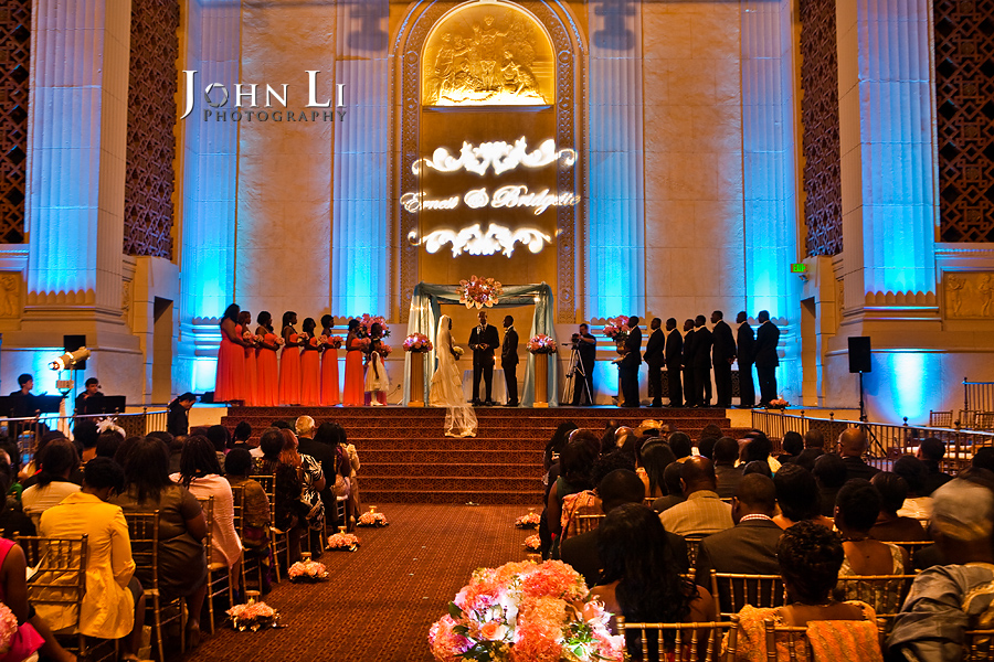 Park Plaza Hotel wedding ceremony