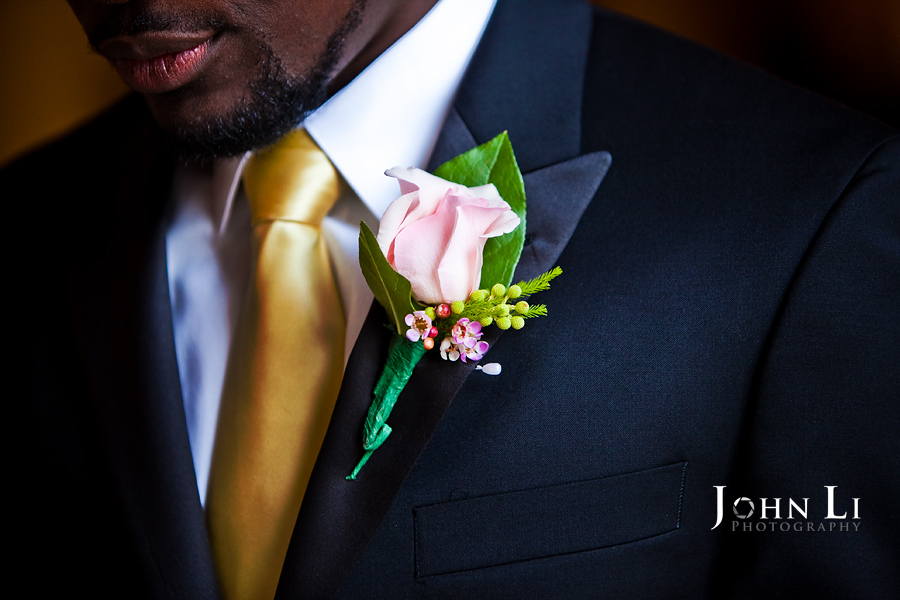 Man Corsage wedding Park Plaza Hotel