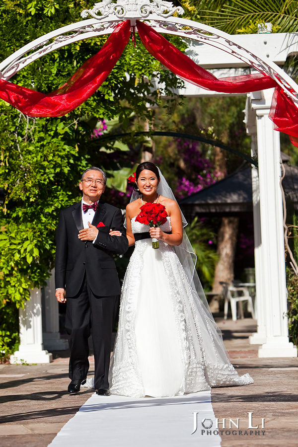 Rancho De Las Palmas wedding ceremony