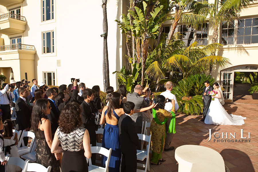 Ritz Carlton Hotel wedding ceremony photos