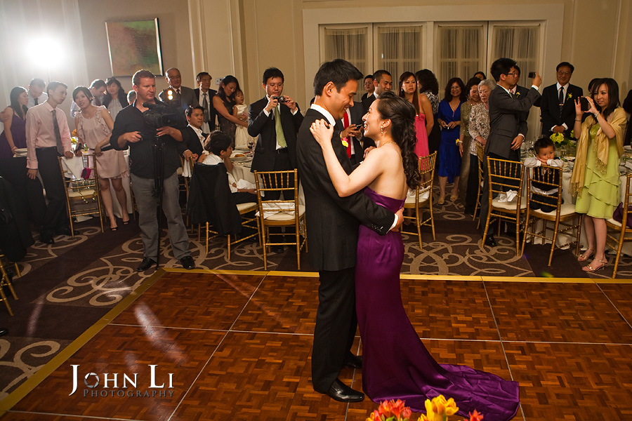 Ritz Carlton Hotel wedding reception ballroom