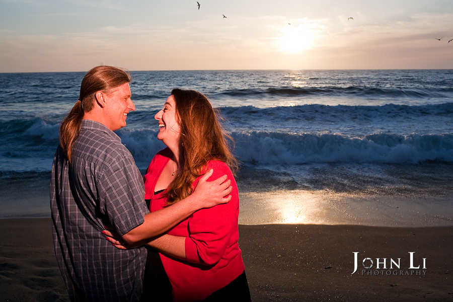 Sunset engagement in Redondo beach