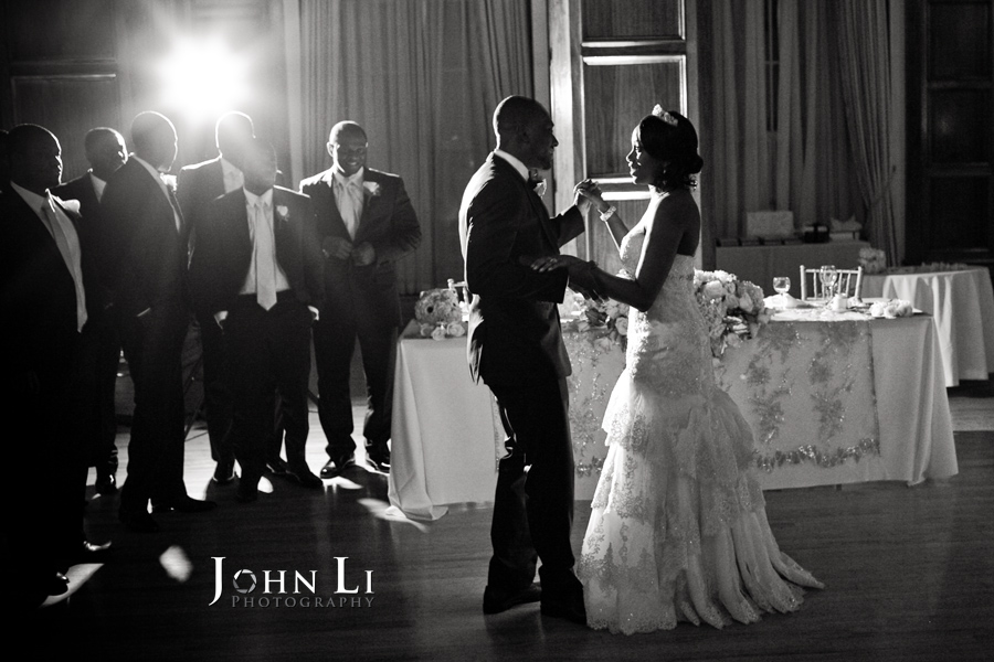 Park Plaza wedding photography reception first dance