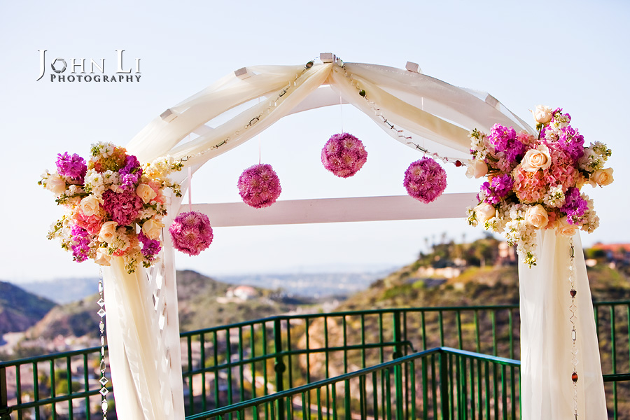 Decoration flowers of Wedding ceremony in Orange hill