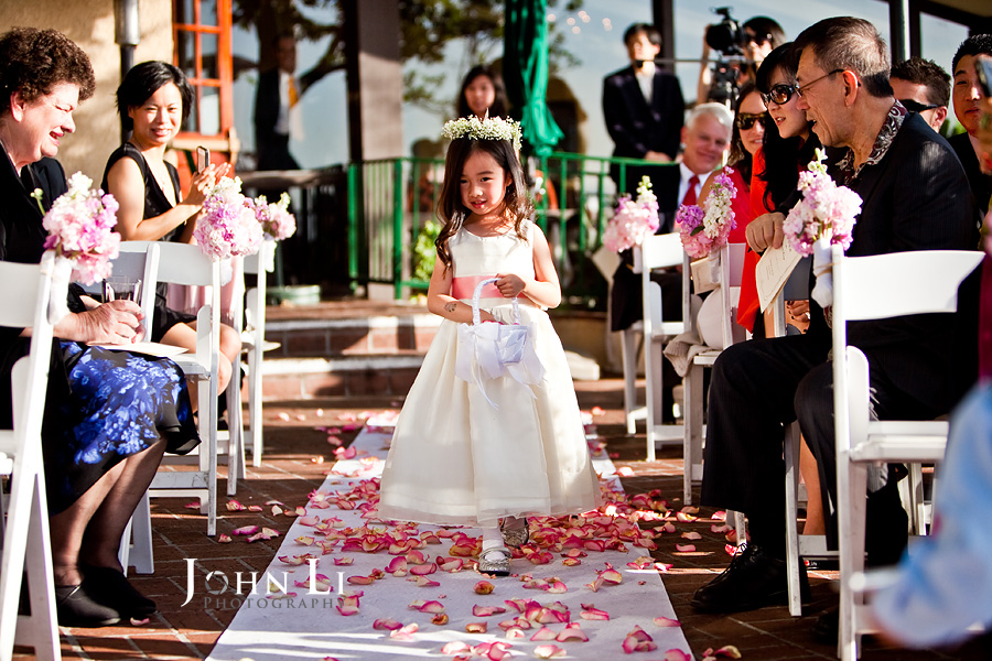 Flower girl wedding ceremony orange hill