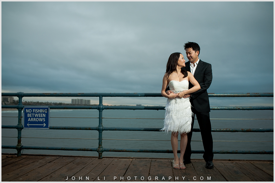 pier engagement in Santa Monica