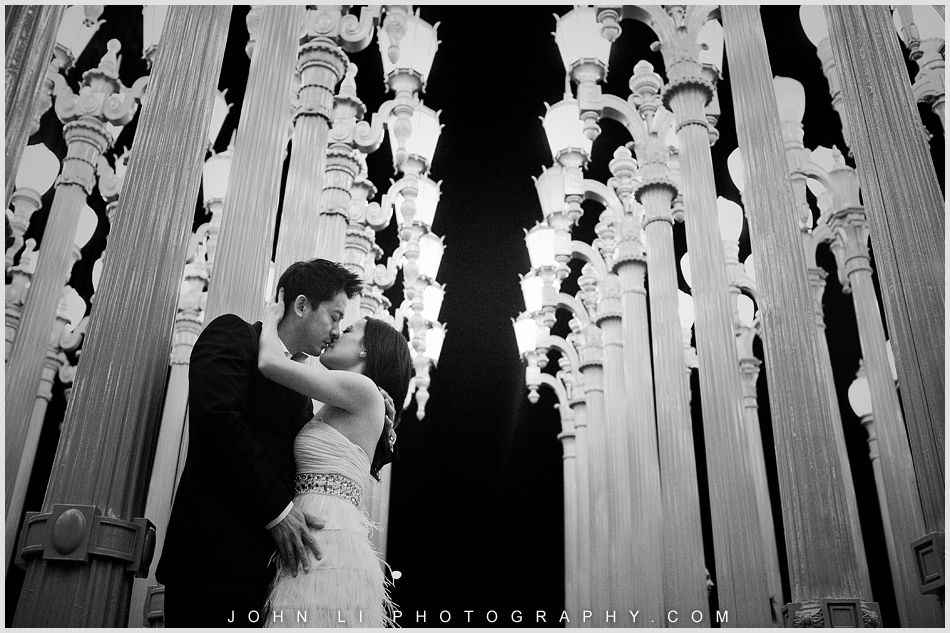 LACMA Engagement photography B & W
