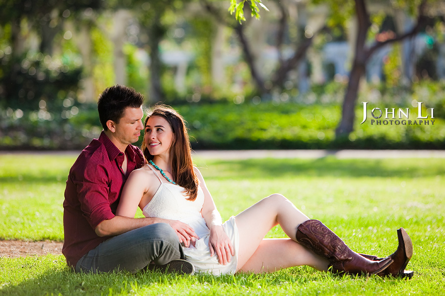 Lacy park engagement photographer San Marino