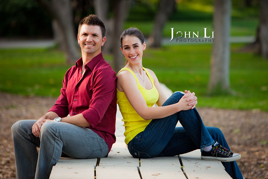 Lacy park engagement photography back to back