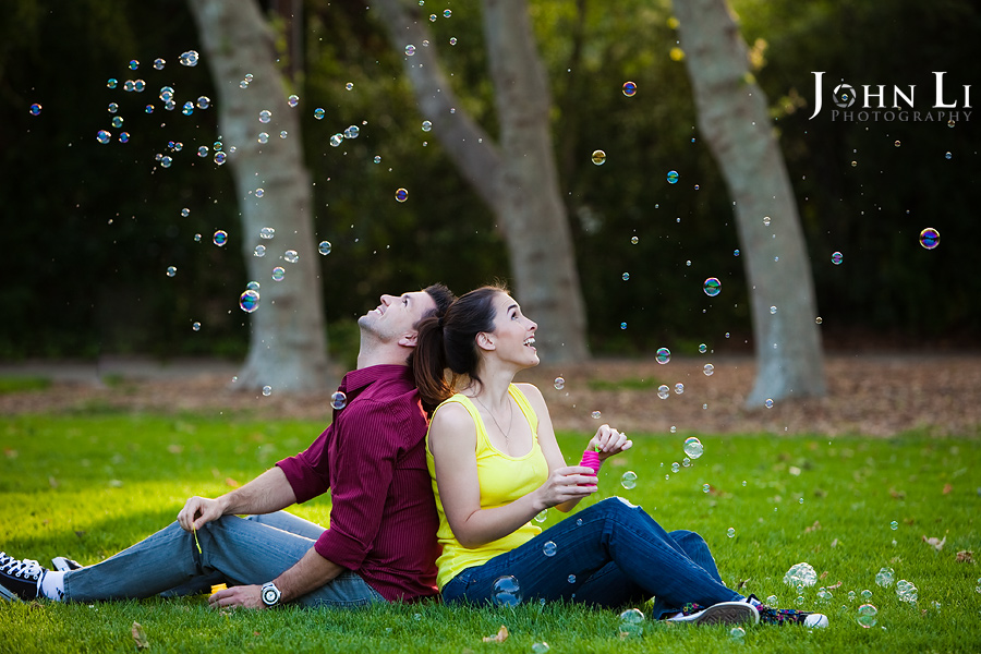 Lacy park engagement play Bubble