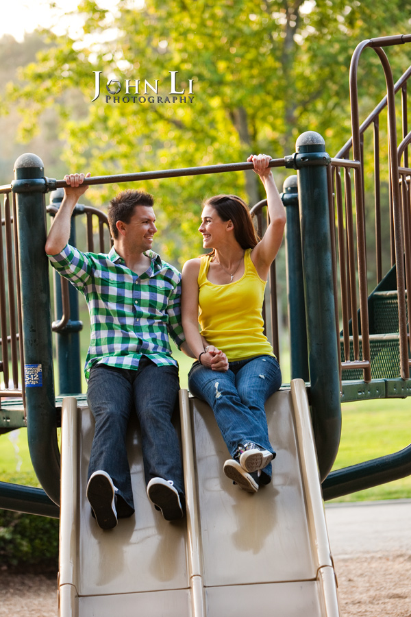 playground engagement photos in lacy park