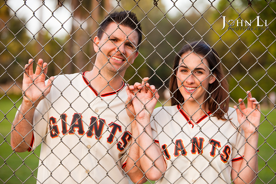 baseball style engagement session photography