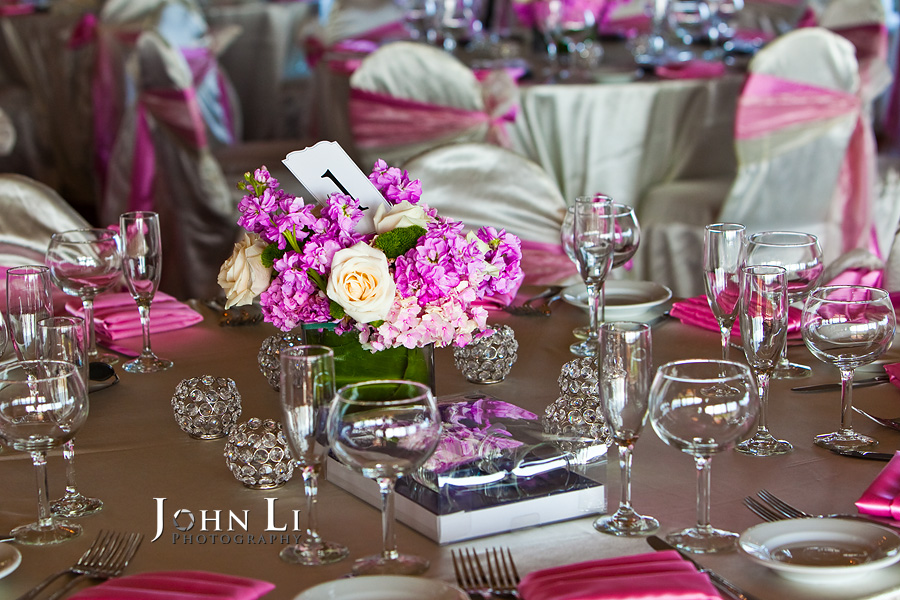 orange hill Irvine wedding reception table