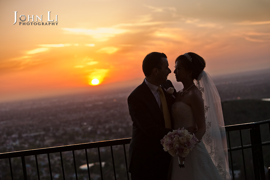 Orane Hill wedding sunset orange hill Irvine