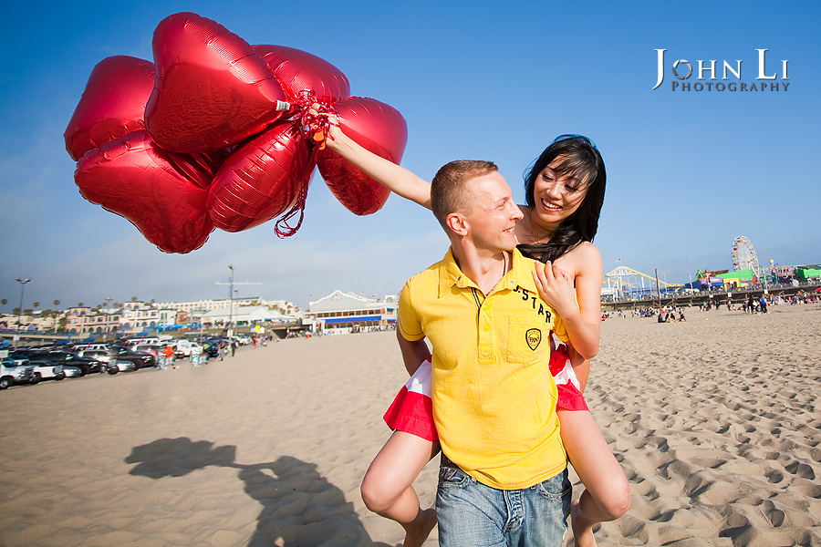 Santa-Monica-pier-engagement-photos