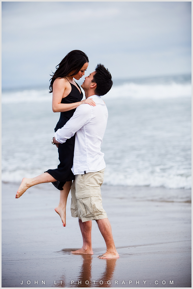 Engagement images on Santa Monica Beach