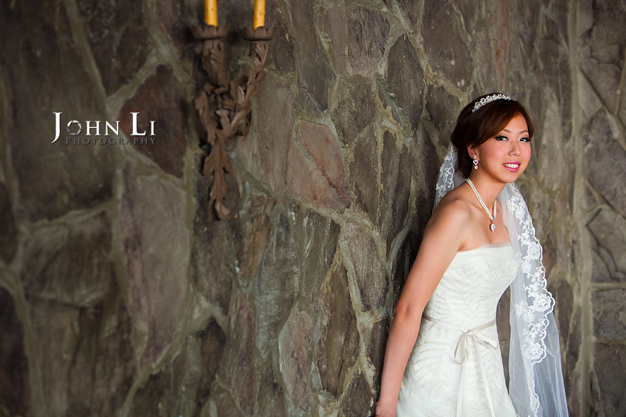 Bridal portrait in ballroom orange hill
