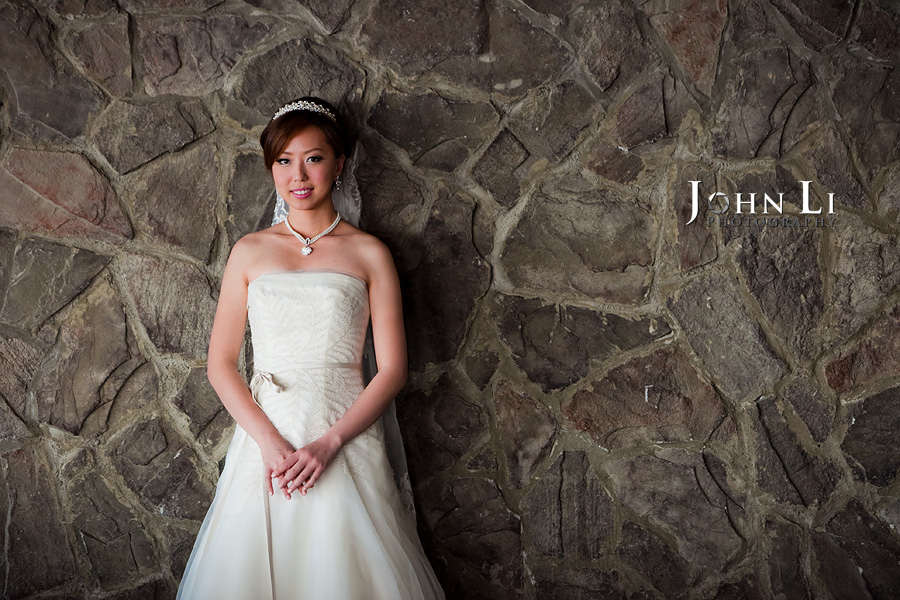 indoor portrait in orange hill wedding