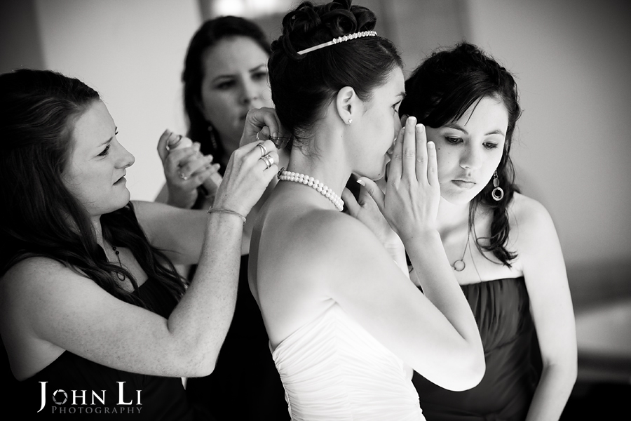 bride getting ready for the ceremony in Ritz Carlton Dana Point