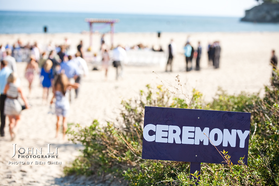 leadbetter beach wedding ceremony