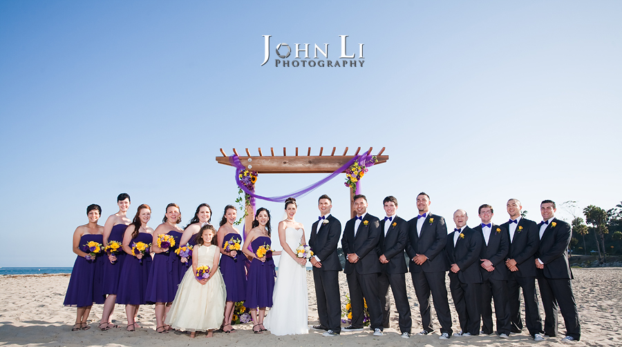 wedding party group photos in Leadbetter beach