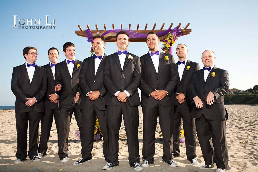groomsmen group photos in Santa barbara wedding