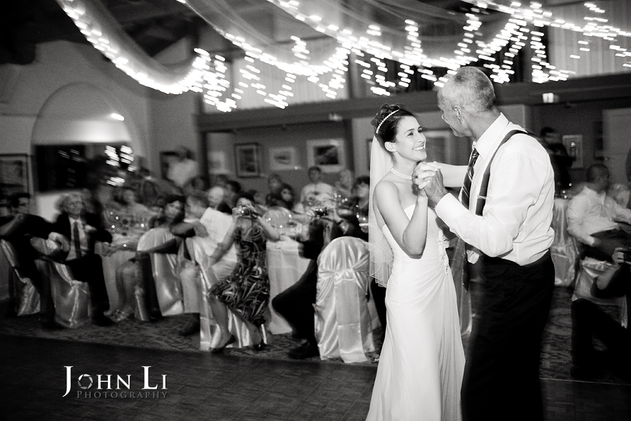 father and daughter dance in cabrillo pavilion arts center wedding