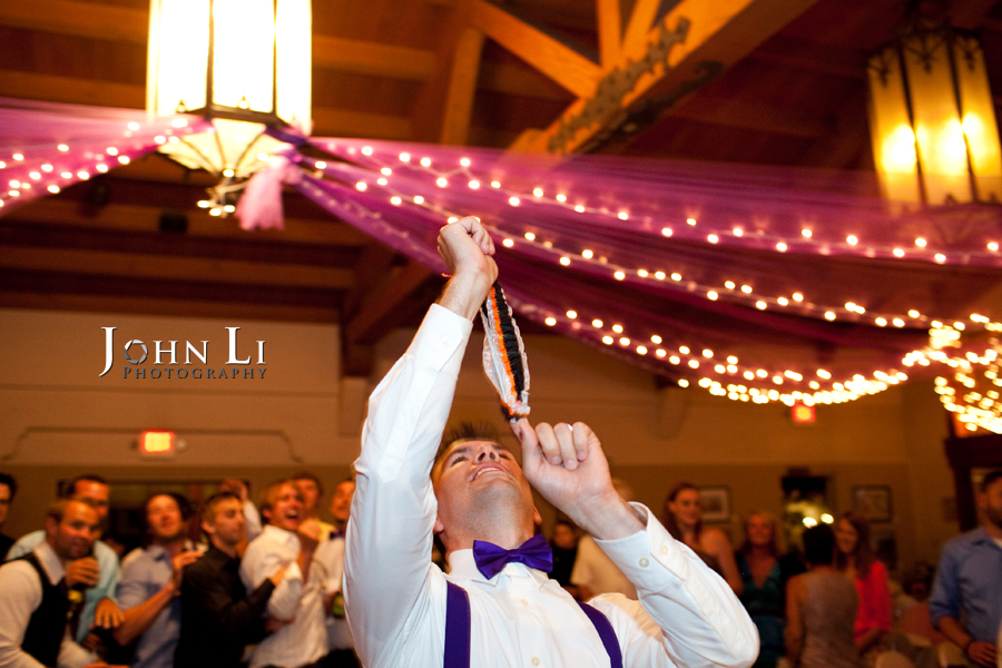 garter toss in cabrillo pavilion arts center photos