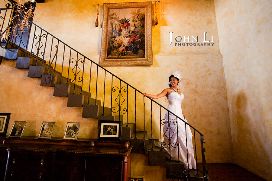 vista de oro wedding bride portrait