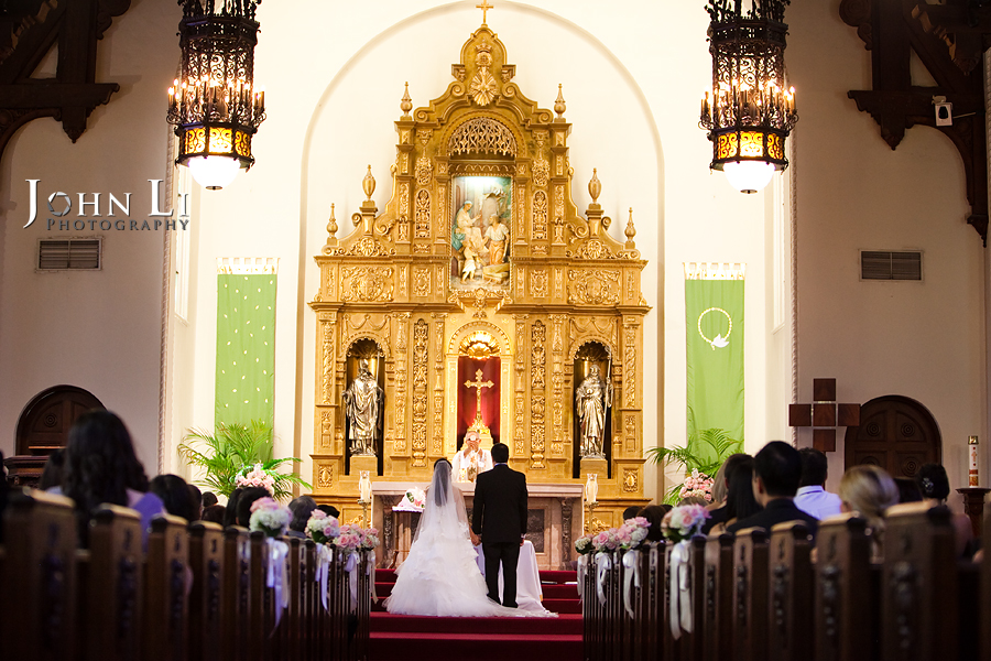 Holy Family Church South Pasadena wedding ceremony