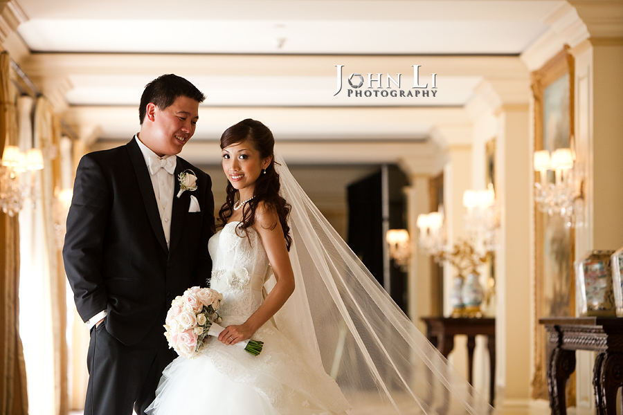 langham hotel pasadena wedding portrait