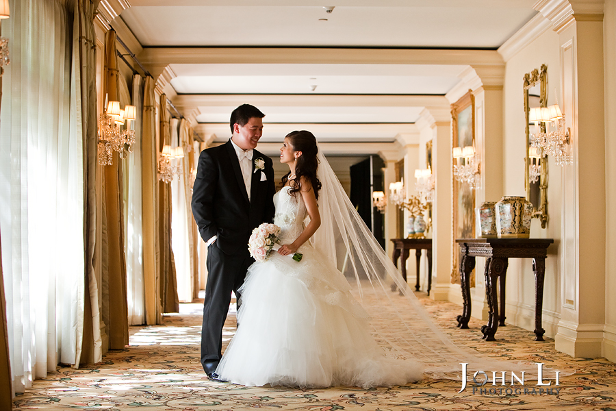 langham hotel pasadena bride and groom