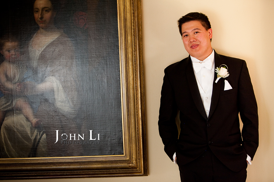 groom's portrait in langham hotel pasadena