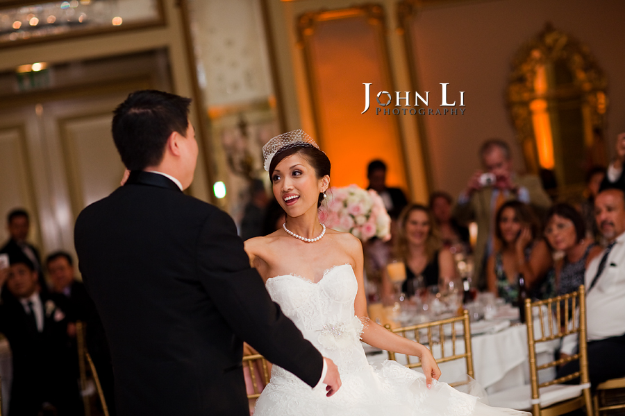 irst dance in Langham Hotel wedding Pasadena